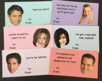 friends inspired valentines day cards