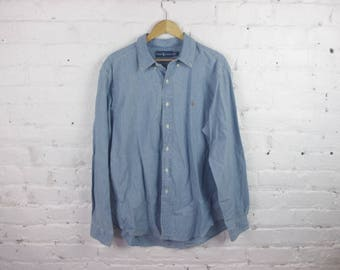 90s Polo Ralph Lauren button up denim shirt