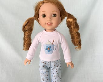 Hot Chocolate Pajamas for Wellie Wisher/14.5 Inch Doll