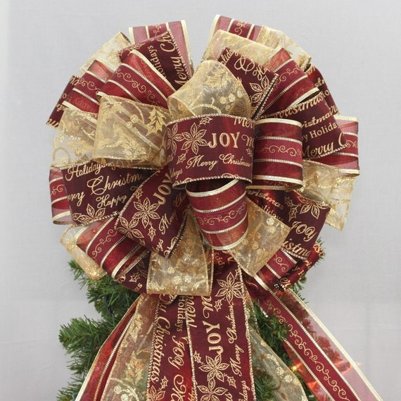 il_570xn - How Do I Decorate My Christmas Tree With Ribbon