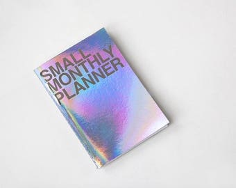 Small Monthly Planner [ Hologram / Kraft ]/ Monthly Schedule / Diary / Kraft Monthly Planner / Undated Planner / Weekly Planner / Journal
