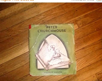 ON SALE Peter Churchmouse by Margot Austin Hardback book/ First edition 32nd printing~VG