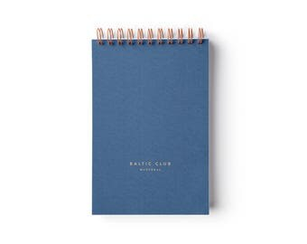 """Ocean blue Notebook  – Spiral binding – 4"""" x 6"""" – Ruled pages"""