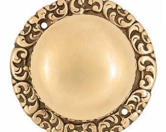 Mechanical Doorbell Round Base, Unlacquered Brass & Oil Rubbed Bronze