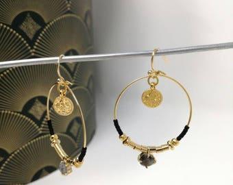 hoop earrings gold plated.