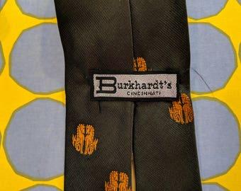 1970s // OLIVE HORSES // Vintage Burkhardt's Cincinnati Tie