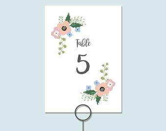 Table Numbers Printable   Table Numbers   Wedding Table Numbers   Printable Table Numbers   Wedding Table Numbers Printable