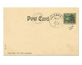 Old Postcard Printing, Download Postcard, Postcard Stamp, Vintage Postcard Scrapbook #9 - [Digital Postcard]