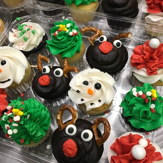 Christmas Holiday Mini Cupcake Sampler