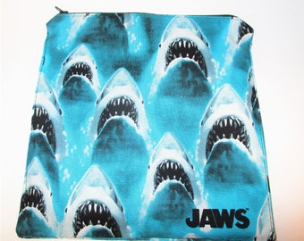 RTS Jaws Fabric Reusable X-Large Sandwich 7.5 x 7.5 cotton top food grade pul inside (can be used as wet bags)
