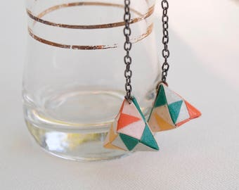 Mini Hanging Origami Toshie's Jewel Earrings
