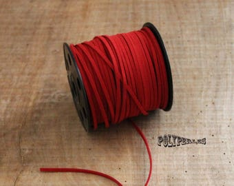 1 m of Red suede cord