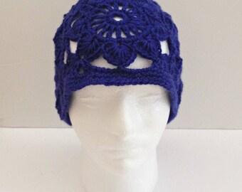 crochet hat, beanie hat, boho hat, woman's hat, summer hat, woman's beanie hat, boho beanie hat, beanie crochet, vintage style, boho style