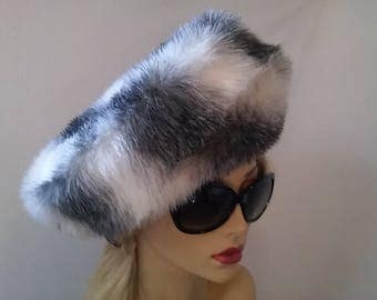 Vintage Inspired Faux Fur Chinchilla Beret Hat