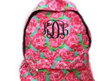 Monogrammed Backpack, Girls Book Bag