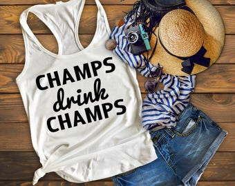 Bachelorette Party Shirts, Champs drink champs, Bachelorette Shirts, Bridesmaid Tank, Bride Tank Top, Bridesmaid Gift, Bridal Party Shirt