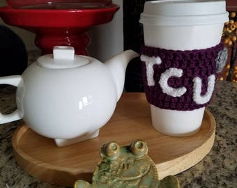 Crocheted TCU Cozy