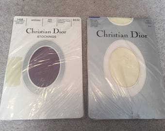 Lot Of Two Vintage Christian Dior Tights/Stockings/Pantyhose Still Sealed