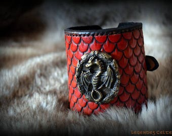 Drogon leather bracelet