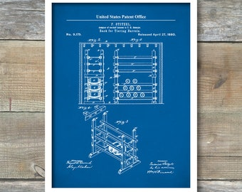 Whiskey Rack Patent  Poster, Whiskey Print, Patent Print, Whiskey Art Print, Whiskey Decor, Bar Art Print, Patent Poster, Home Decor, P513