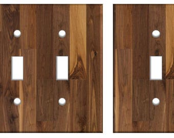Rustic Wood Light Switch Plate Cover Planks // brown black walnut image 75 // SAME DAY SHIPPING**