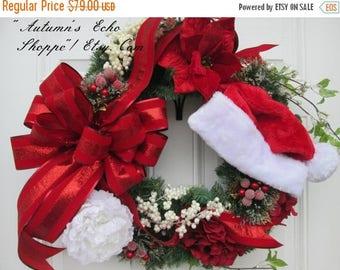 ON SALE NOW Christmas Decor Wreath~Floral Christmas Decor Wreath~Faux Evergreen Wreath ~ Luxury Holiday Door Wreath~Seasonal Door Decor~Holi