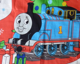 Thomas the Tank Engine Giant Stocking - Fabric Panel - Ready to Cut and Sew - Adorable - Unisex - Merry Christmas - Holiday - Train Love