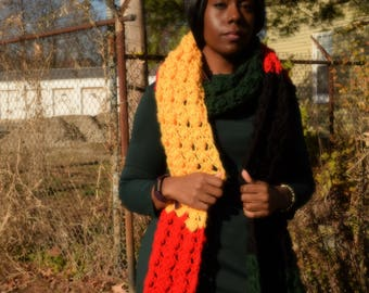 Bold African colors mega scarf