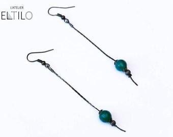 Earrings green faceted beads / / handmade earrings / / gift for woman