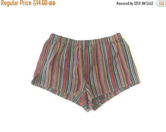 40% OFF Vintage Hippy Stripped Booty Shorts