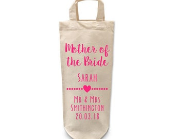 Mother of the Bride Gift | Bottle | Bag | Thank you | Personalised | Favours | Bridal Party Gifts | Gift Bag | Wedding Favour | Will you be
