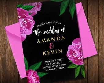 Wedding Invitation, Wedding Invitation Instant Download, Printable Wedding Invitation