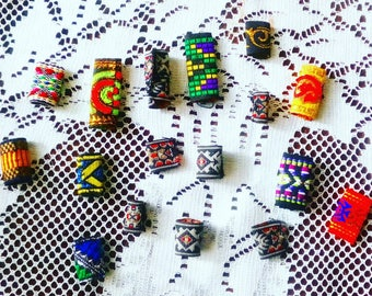 Ethnic dread wraps - a cool dreadlock decoration