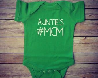 Auntie's MCM- auntie bodysuit- auntie shirts- auntie- nephew shirts- nephew- baby boy- boy bodysuits- man crush monday -