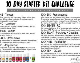 Ten Day Premium Starter Kit Challenge - Young Living - Printable