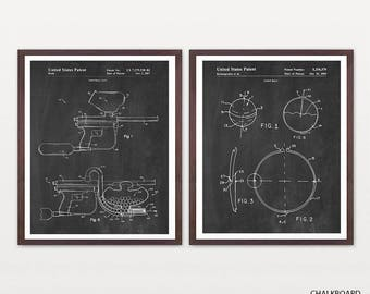 Paintball Patent Art - Paintball Poster - Paintball Wall Art - Paintball Gun - Paintball Art - Paintball Gun Patent - Paintball Game