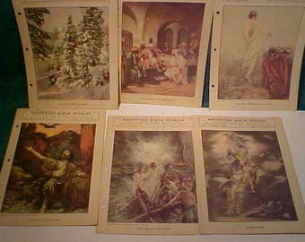 Thirteen (13) 1926/1929our  Religious Publications Beginners Bible Stories/Primary Bible Lessons