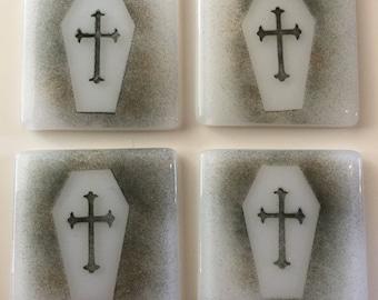 Coffin coasters