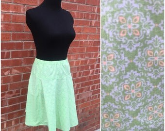 1980s Green Skirt |S-M| Material Collections