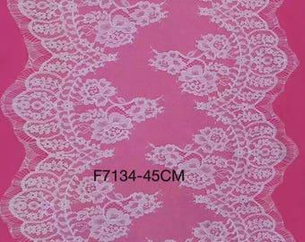 "3yards lace strip ,white Eyelash Lace Trim ,flower Lace 17.5"" Wide 3Yards -7134"