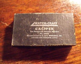 vintage watchmaker caliper