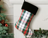 Plaid Christmas Stocking, Plaid Stocking, Plaid Christmas, Tartan Plaid Christmas, Tartan Plaid Christmas Stocking, Tartan Stocking