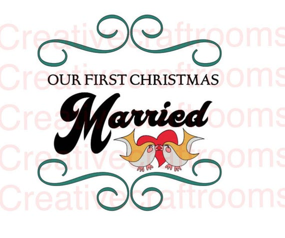Our first Christmas Married png, Christmas svg, First Christmas Married SVG, Christmas 2017 png, Digital Cutting File, Cricut, Print File