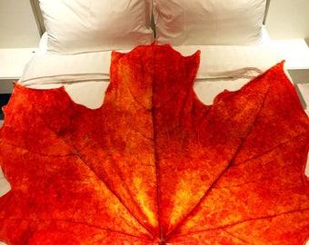 Maple Leaf Decorative Throw Blanket
