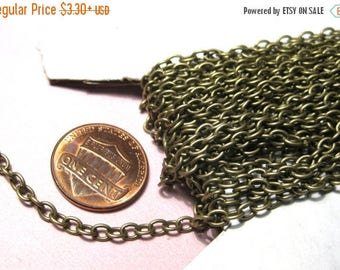 50% OFF Clearance Sale-- Antique Bronze Cable Chains 4x3mm(No.847)
