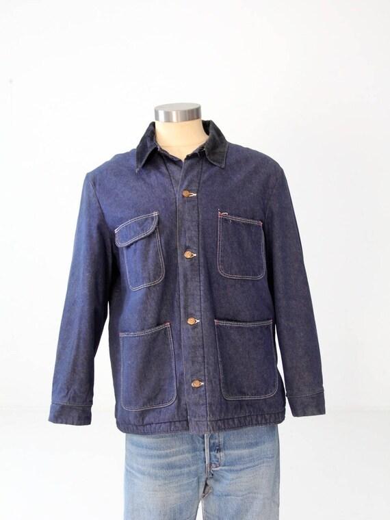 vintage Wrangler blanket lined denim work jacket 1950s barn