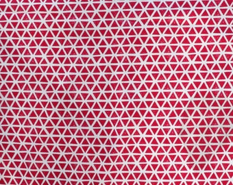 Fabric - Cloud 9 Cotton jersey - triangles - Magenta - knit