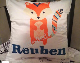 Tribal fix personalised pillow, decorative cushion, fox pillow, personalised cushion cover, tribal pillow