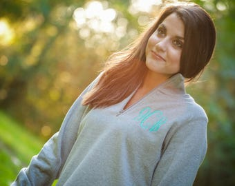 Monogrammed quarter zip monogrammed sweater monogrammed pull over monogrammed sweatshirt