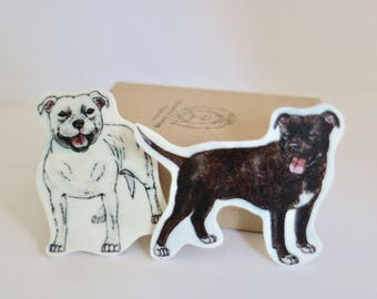 Staffy Brooch